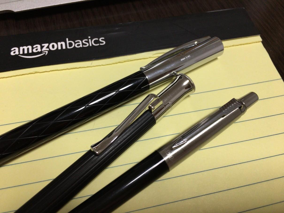 パーカーサイズリフィルのボールペンで4C芯のジェットストリームを使う