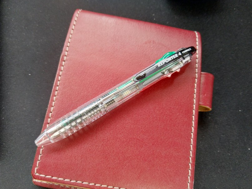 小さくて短い4色ボールペンならトンボの「リポーター コンパクト」がオススメ!